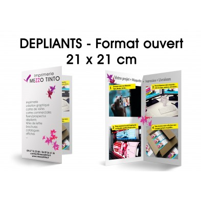 Dépliant 21 X 21 cm