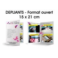 Dépliant 15 X 21 cm