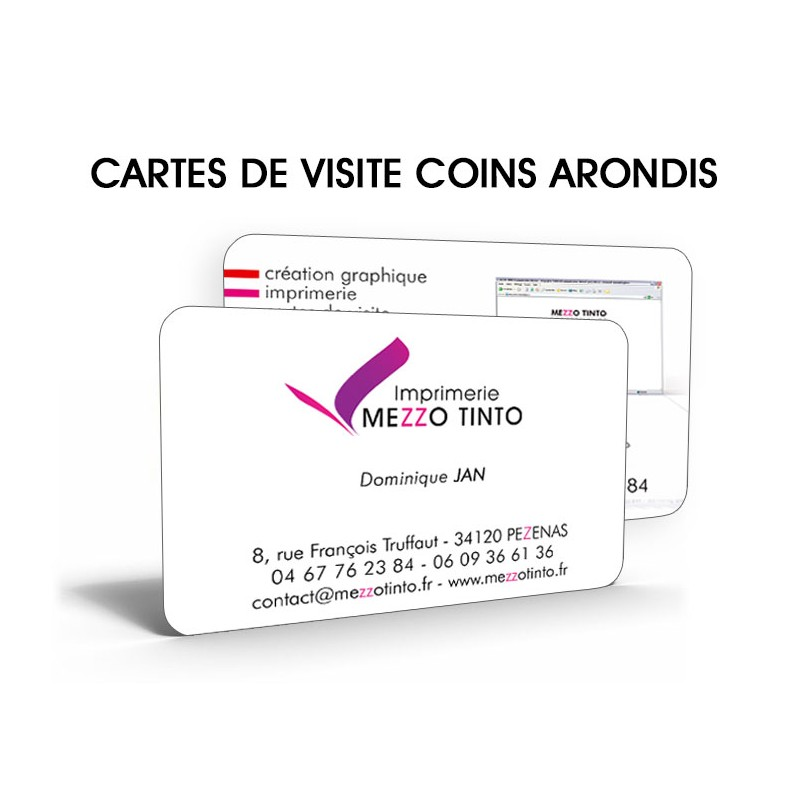 Cartes De Visites Coins Arrondis