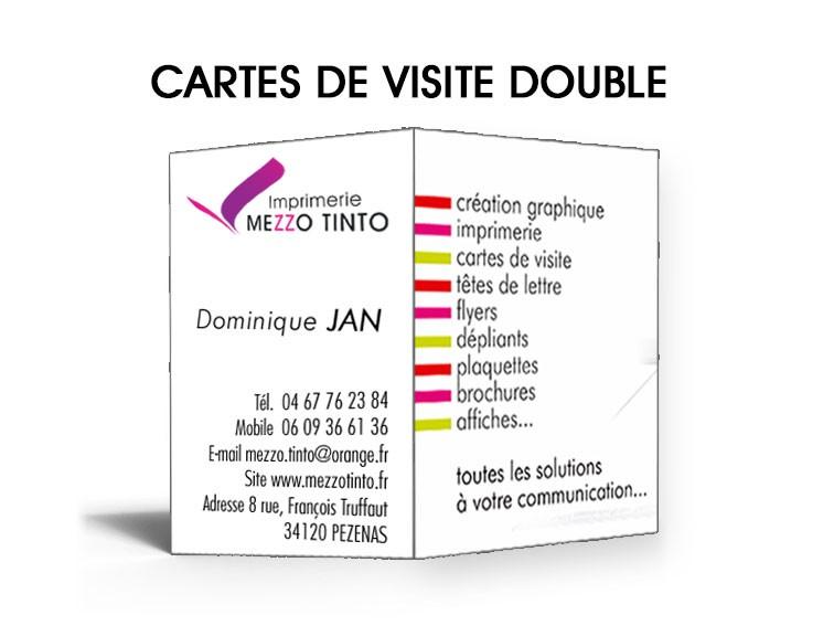 Impression Carte De Visite Double Avec Pli Central