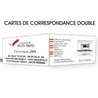 CARTE DE CORRESPONDANCE DOUBLE