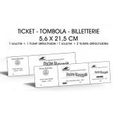 Billetterie - Noir & Blanc - 5,6 x 21,5 cm