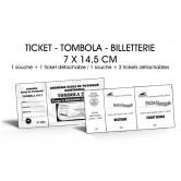 Billetterie - Noir & Blanc - 7 x 14,5 cm