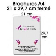 BROCHURE 21 X 29,7 CM Sans couverture