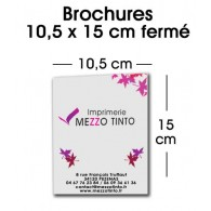 BROCHURE 10,5 X 15 CM Sans couverture