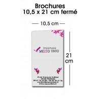 BROCHURE 10,5 X 21 CM Sans couverture