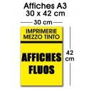 Affiche fluo A3 (30 x 42 cm)