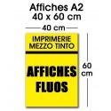 Affiche fluo A2 (40 x 60 cm)