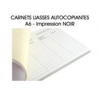 Carnet liasses autocopiantes A6 - Imp. Noir