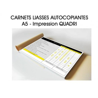 Carnet liasses autocopiantes A5 - Imp. quadri