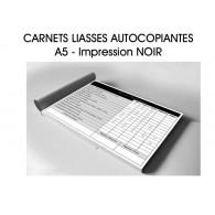 Carnet liasses autocopiantes A5 - Imp. Noir