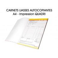 Carnet liasses autocopiantes A4 - Imp. Quadri