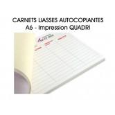 Carnet liasses autocopiantes A6 - Imp. Quadri