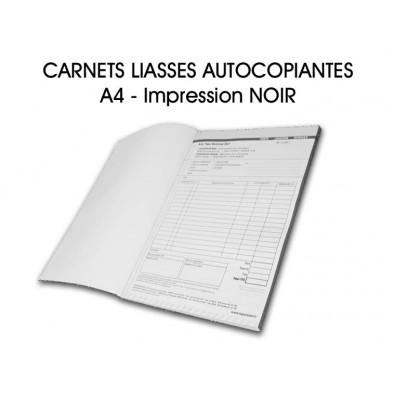 Carnet liasses autocopiantes A4 - Imp. Noir