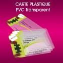 Carte PVC Transparente