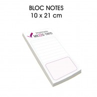 Bloc-notes 10 x 21 cm