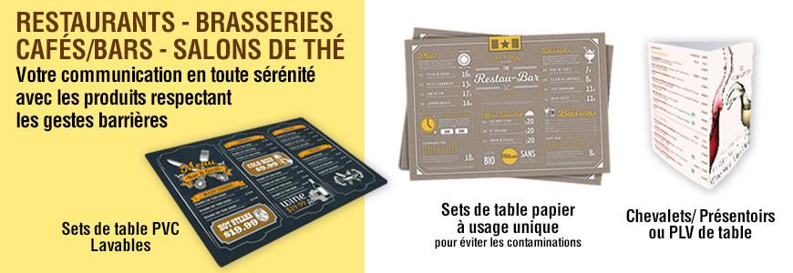 Produits pour réouverture des restaurants/brasseries/cafés/salons de thé...